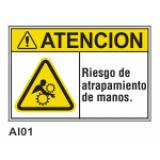 Cartel riesgo de atrapamiento