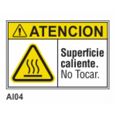 Cartel superficie caliente