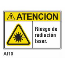 Cartel riesgo de radiación