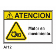 Cartel motor en movimiento