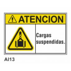 Cartel cargas suspendidas