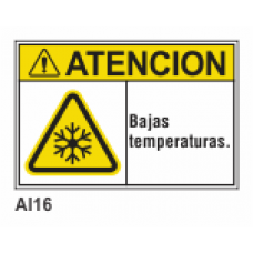 Cartel bajas temperaturas