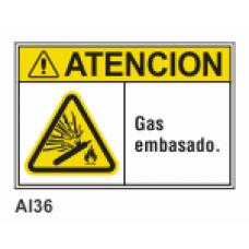 Cartel gas embasado
