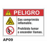 Cartel gas comprimido