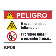 Cartel gas comprimido