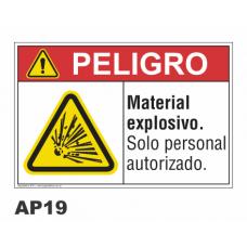 Cartel material explosivo