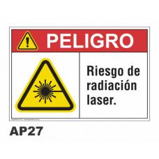 Cartel riesgo radiación