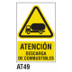 Cartel descarga de combustibles