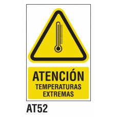 Cartel temperaturas extremas