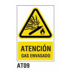 Cartel gas envasado