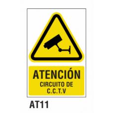 Cartel circuito C.C.T.V