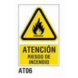 Cartel riesgo incendio