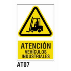 Cartel vehículos industriales