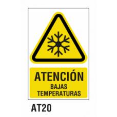 Cartel bajas temperaturas