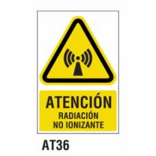 Cartel radiación no ionizante