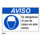 Cartel usar casco