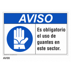 Cartel usar guantes