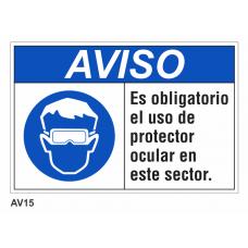 Cartel usar protector ocular