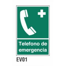 Cartel teléfono de emergencia