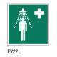 Cartel ducha de emergencias
