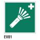 Cartel linterna de emergencia