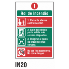 Cartel rol de incendio
