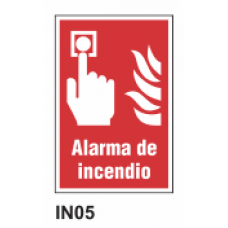 Cartel alarma de incendio