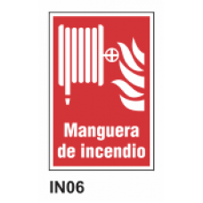 Cartel manguera de incendio