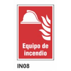 Cartel equipo de incendio