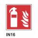 Cartel extintor de incendio