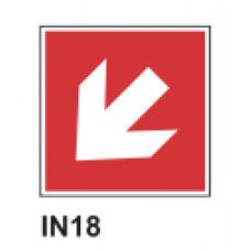 Cartel flecha  izquierda