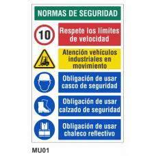 Cartel normas de seguridad