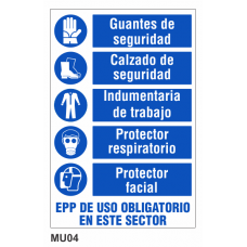 Cartel uso obligatorio