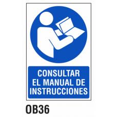 Cartel consultar el manual
