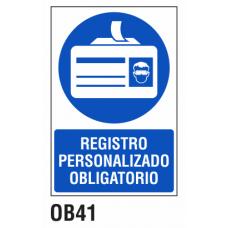 Cartel registro personalizado obligatorio