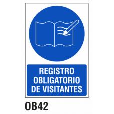 Cartel registro obligatorio de visitantes