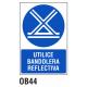 Cartel bandolera reflectiva