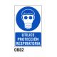 Cartel utilice protección respiratoria