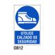 Cartel utilice calzado de seguridad