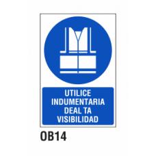 Cartel indumentaria de alta visibilidad