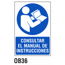 Cartel consultar el manual