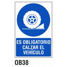 Cartel calzar vehículo