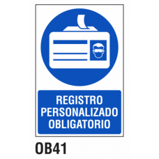 Cartel registro personalizado obligatorio