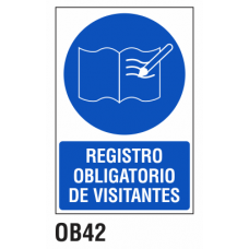 Cartel registro obligatorio de visitantes