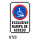 Cartel exclusivo rampa de acceso