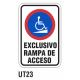Cartel exclusivo rampa de acceso