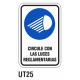 Cartel luces reglamentarias