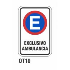 Cartel exclusivo ambulancia