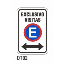 Cartel exclusivo visitas
