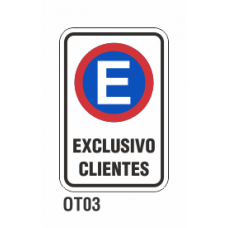 Cartel exclusivo clientes